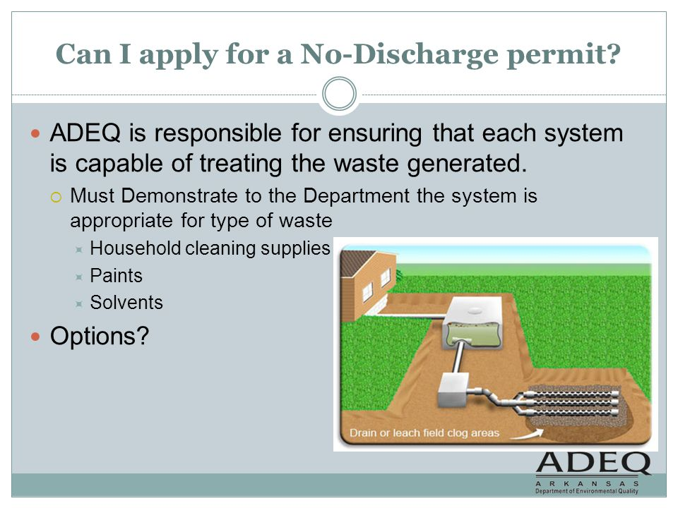 Can I apply for a No-Discharge permit