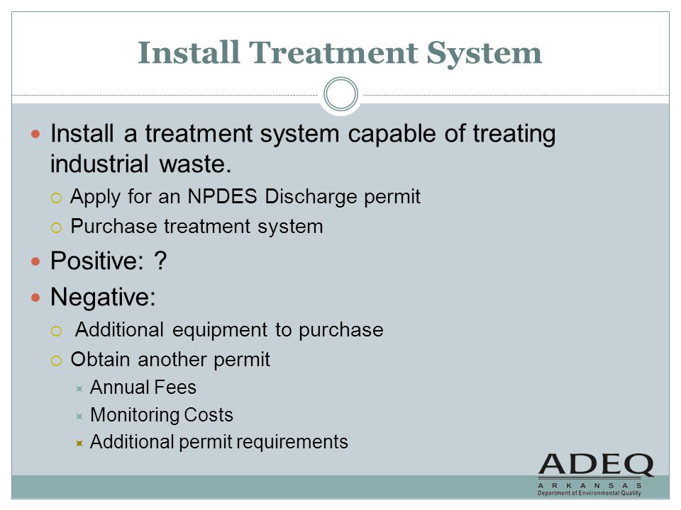 Install Treatment System