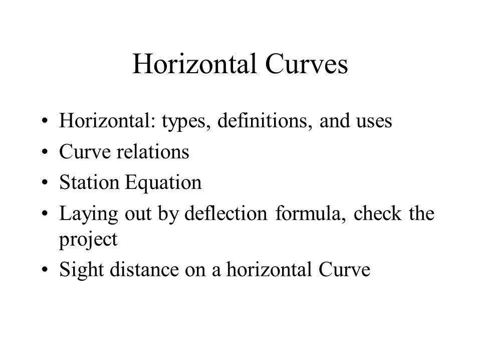 Horizontal Curves Horizontal: types, definitions, and uses