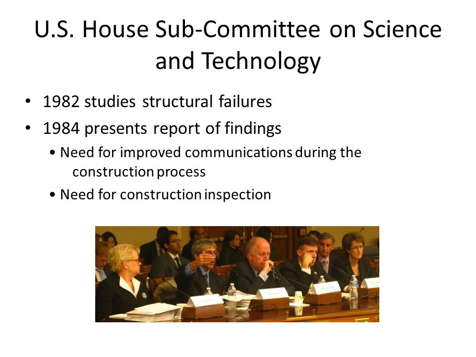 U.S. House Sub-Committee on Science and Technology