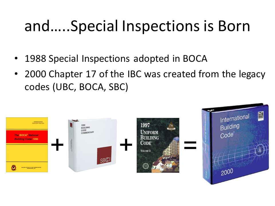and…..Special Inspections is Born