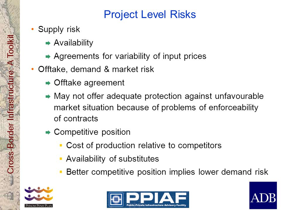 Project Level Risks Supply risk Availability