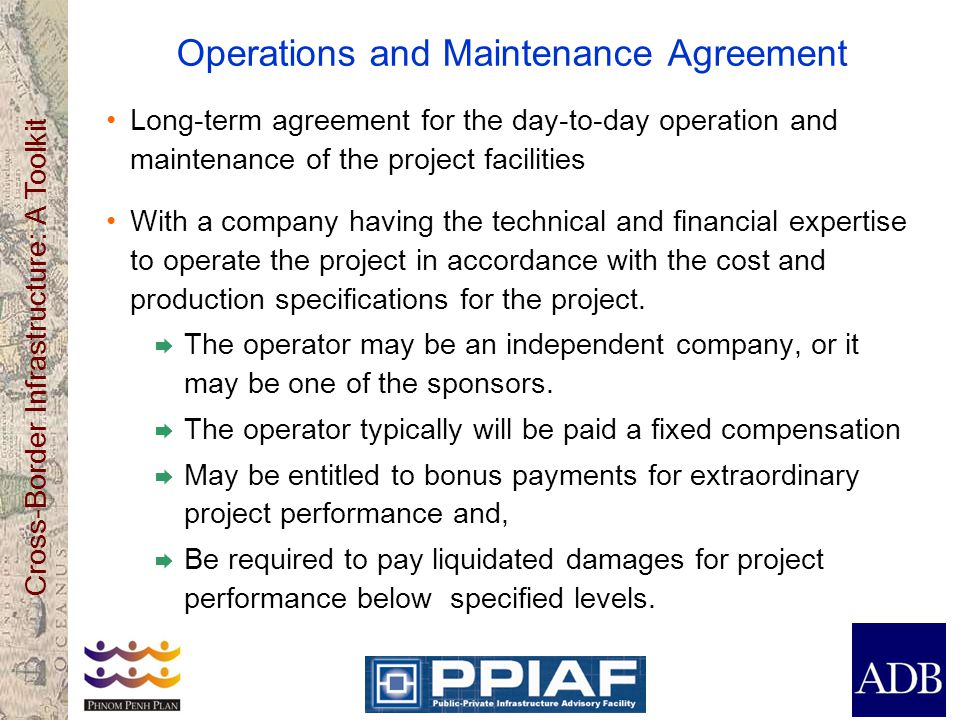Operations and Maintenance Agreement