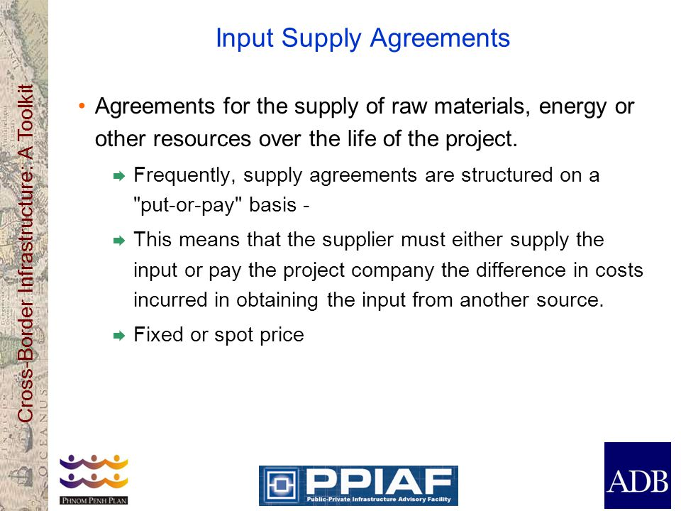 Input Supply Agreements
