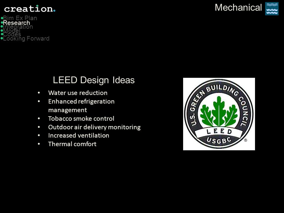 Mechanical LEED Design Ideas Water use reduction