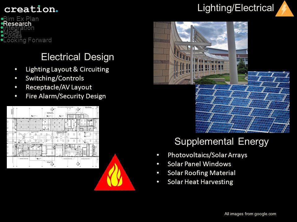 Lighting/Electrical Electrical Design Supplemental Energy