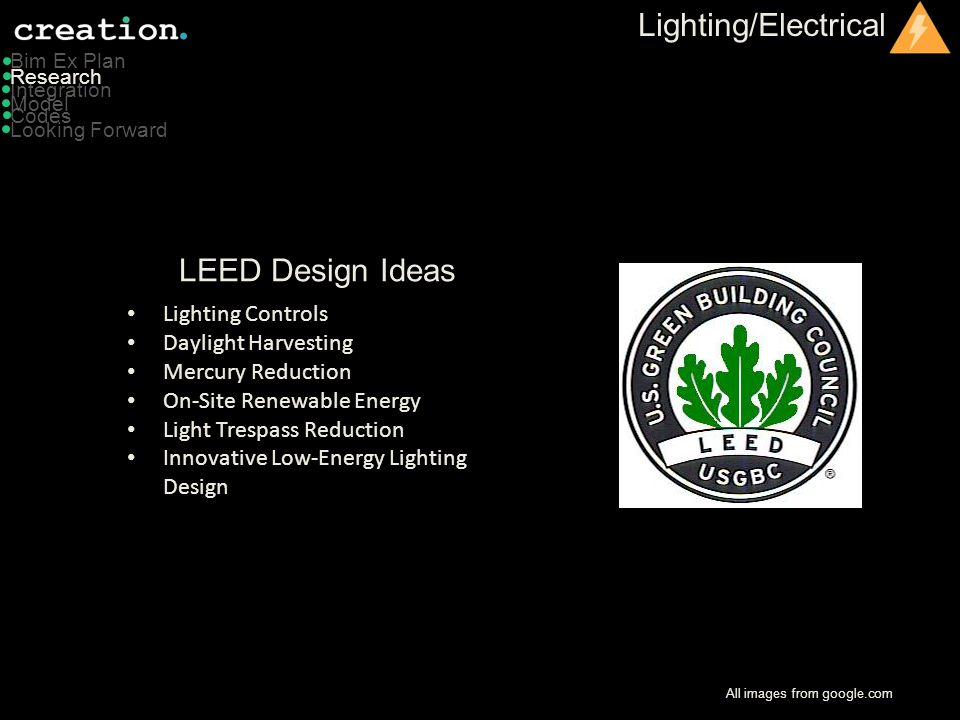 Lighting/Electrical LEED Design Ideas Lighting Controls