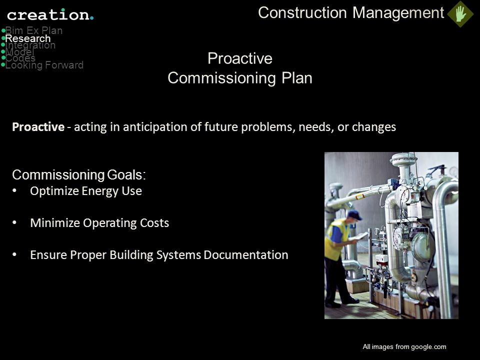 Proactive Commissioning Plan