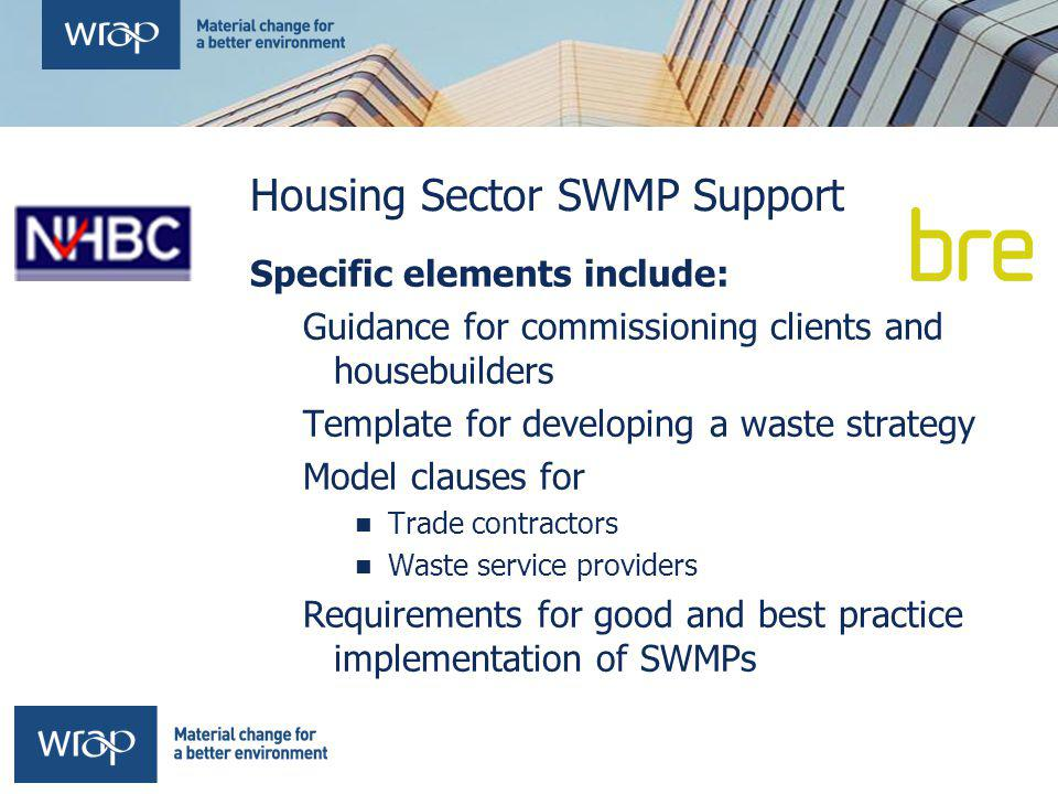 Housing Sector SWMP Support