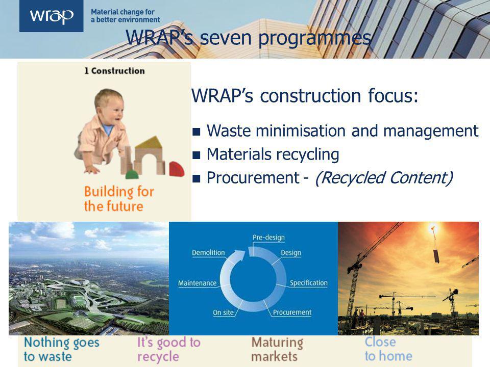 WRAP's seven programmes