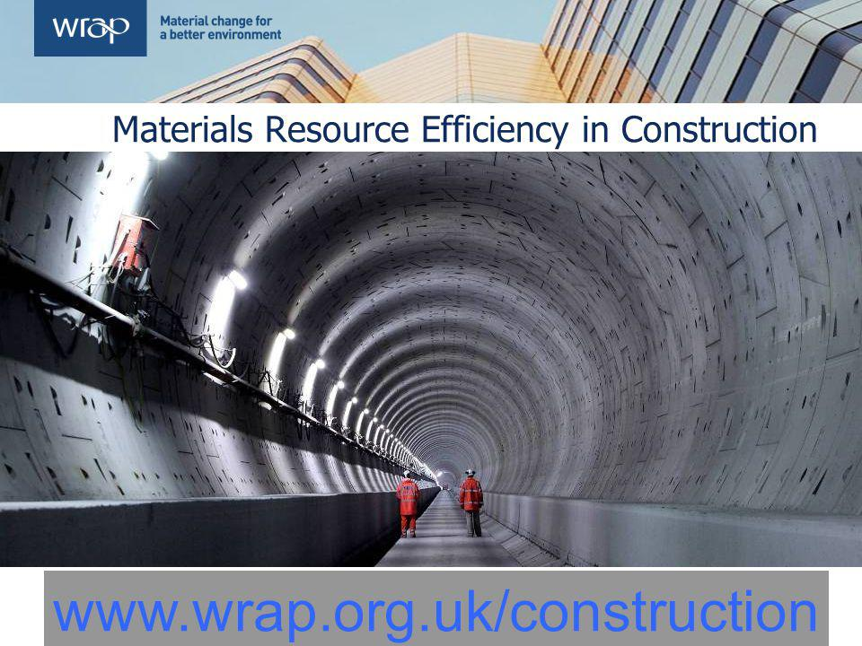 Materials Resource Efficiency in Construction