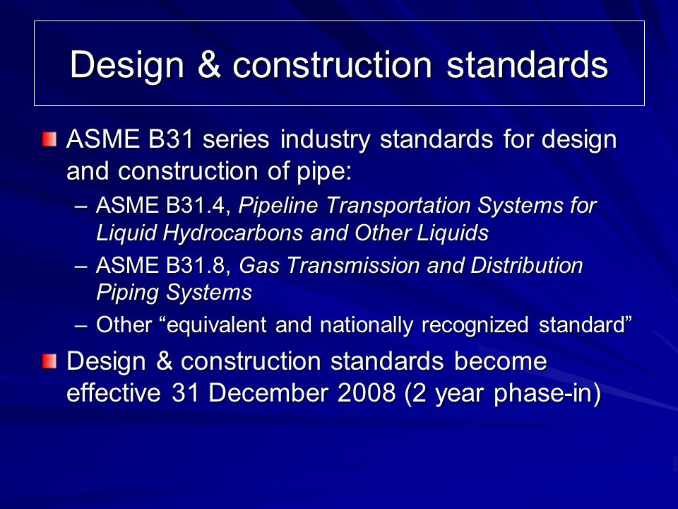 Design & construction standards