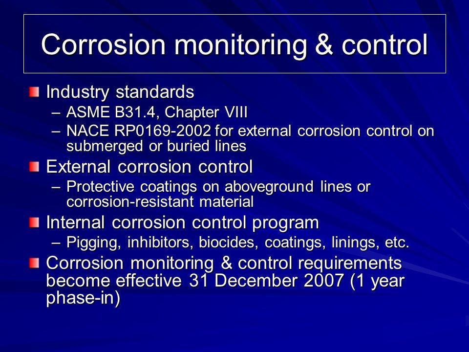 Corrosion monitoring & control