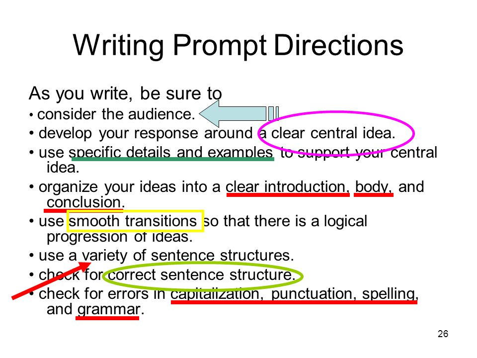 Writing Prompt Directions