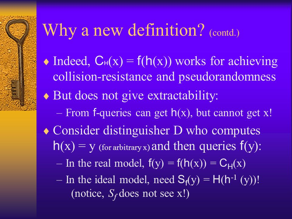 Why a new definition (contd.)