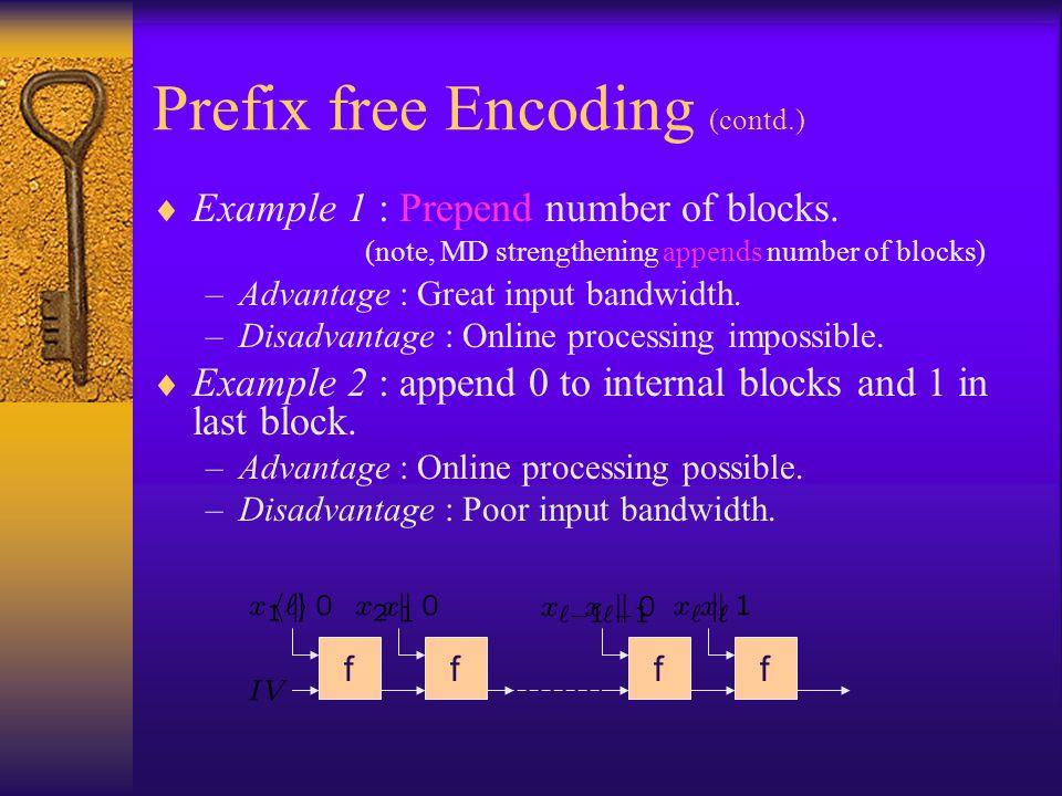 Prefix free Encoding (contd.)