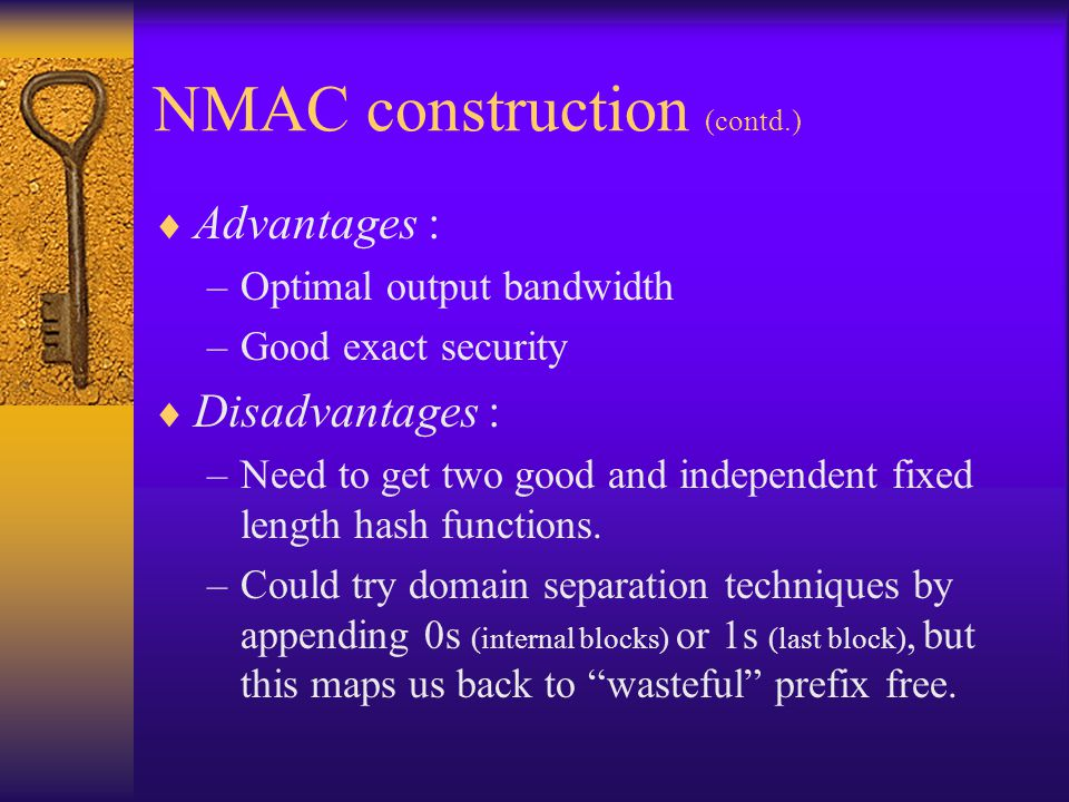 NMAC construction (contd.)