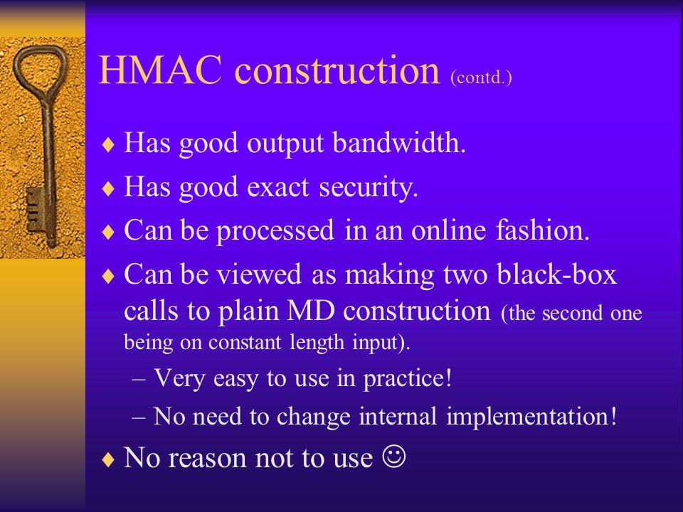 HMAC construction (contd.)