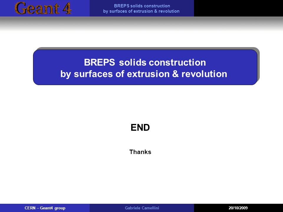 BREPS solids construction by surfaces of extrusion & revolution