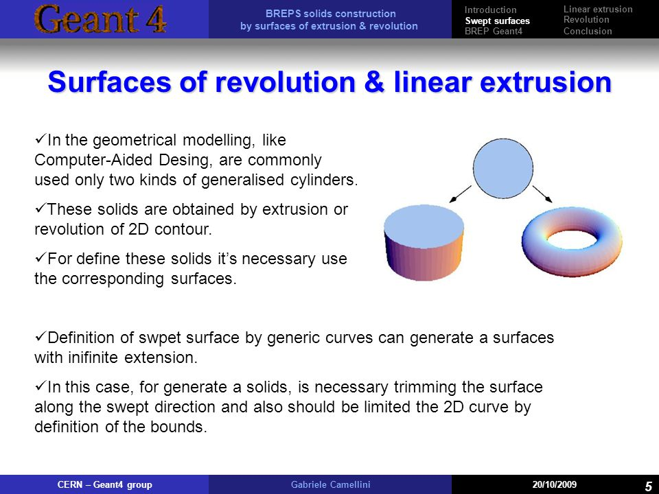 Surfaces of revolution & linear extrusion