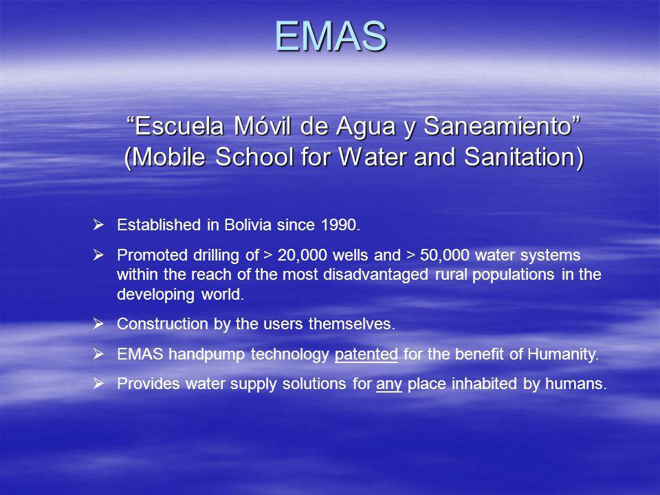 EMAS Escuela Móvil de Agua y Saneamiento