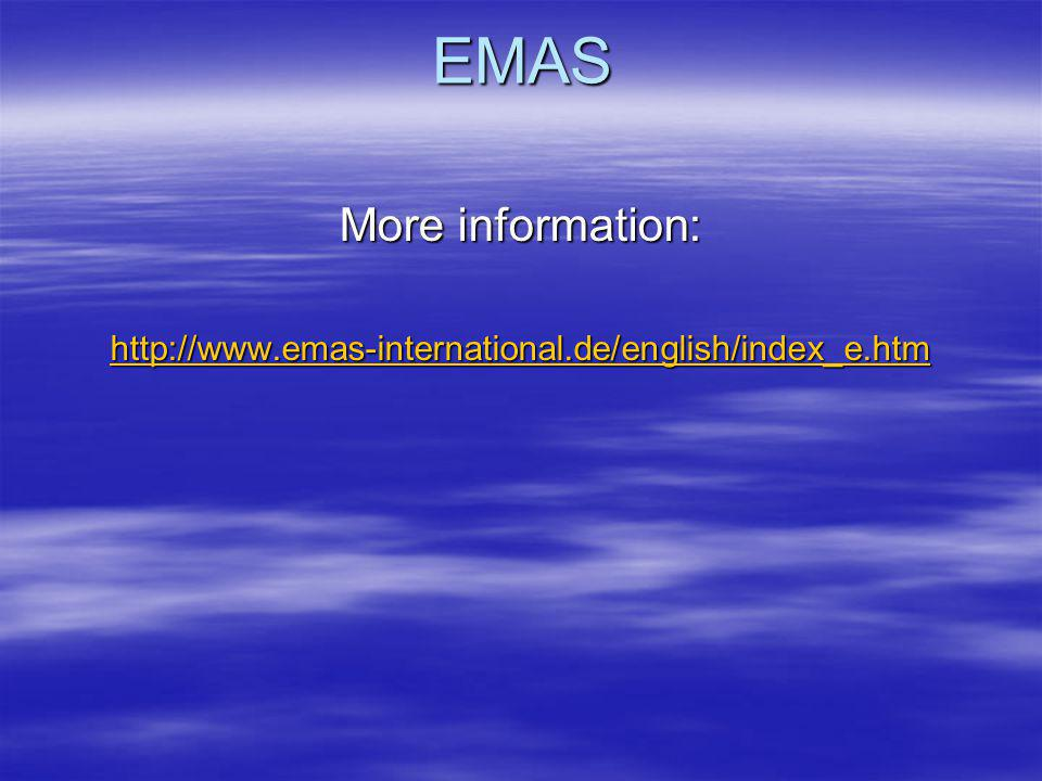 EMAS More information: