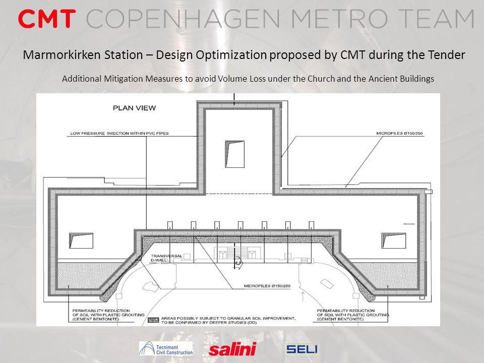 Marmorkirken Station – Design Optimization proposed by CMT during the Tender