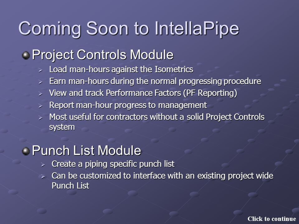 Coming Soon to IntellaPipe