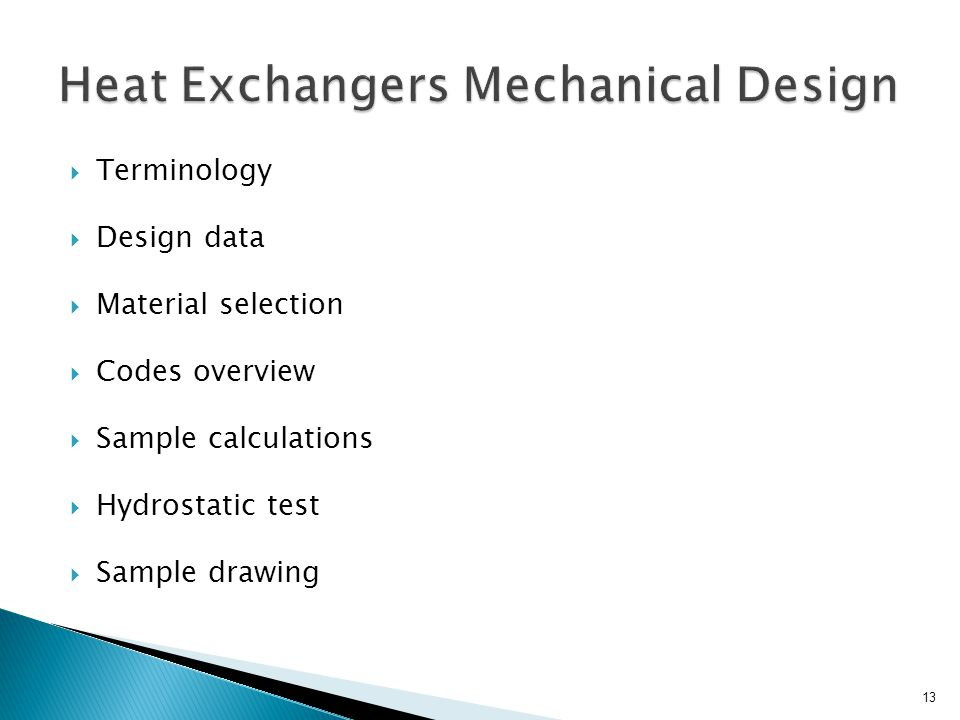 Heat Exchangers Mechanical Design