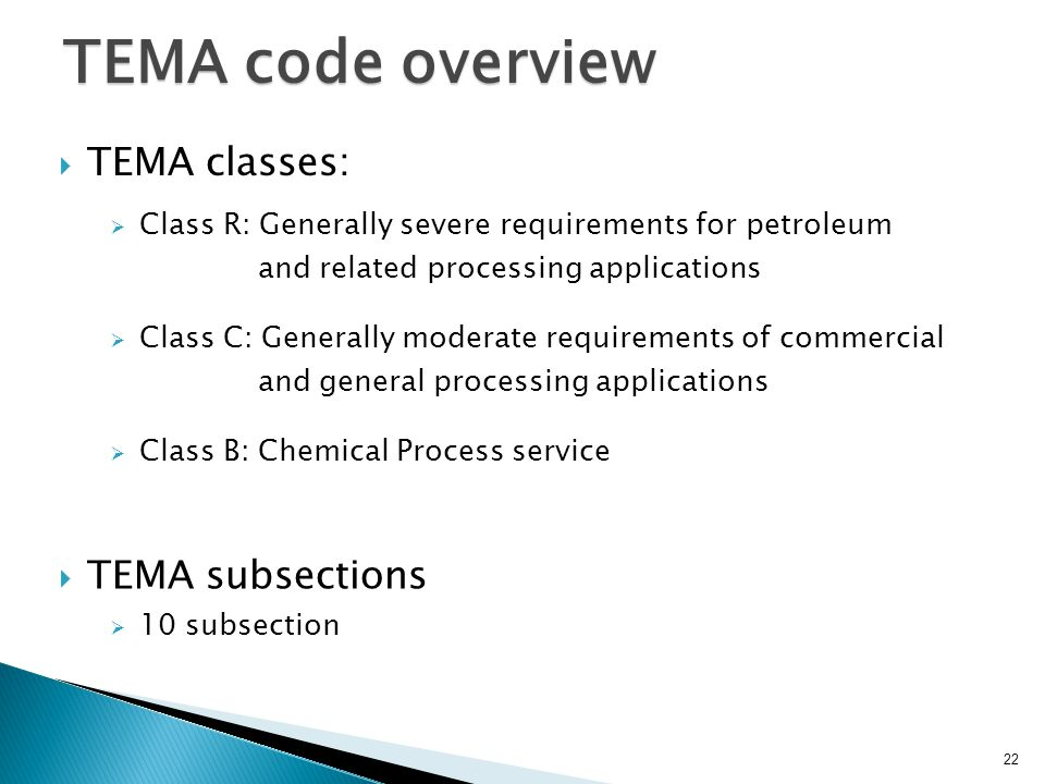 TEMA code overview TEMA classes: TEMA subsections