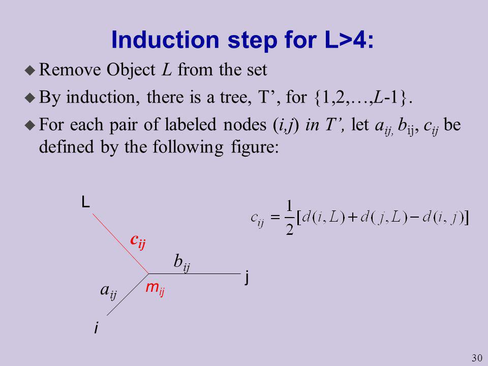 Induction step for L>4: