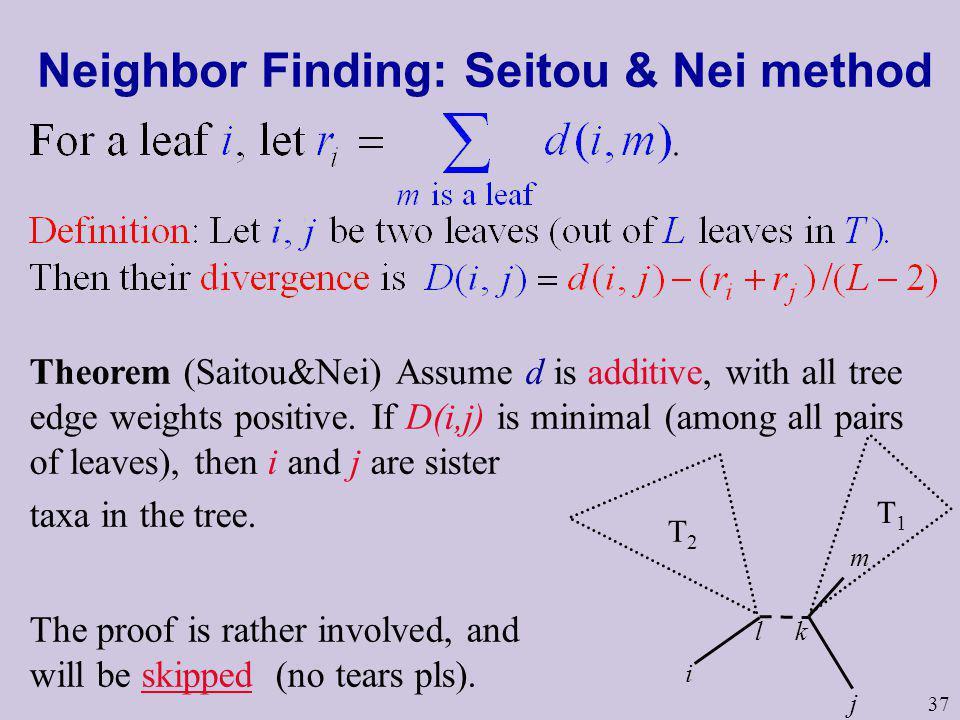 Neighbor Finding: Seitou & Nei method