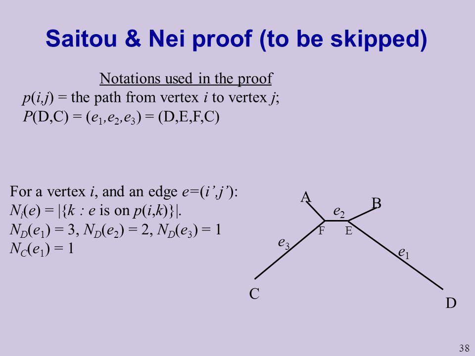 Saitou & Nei proof (to be skipped)