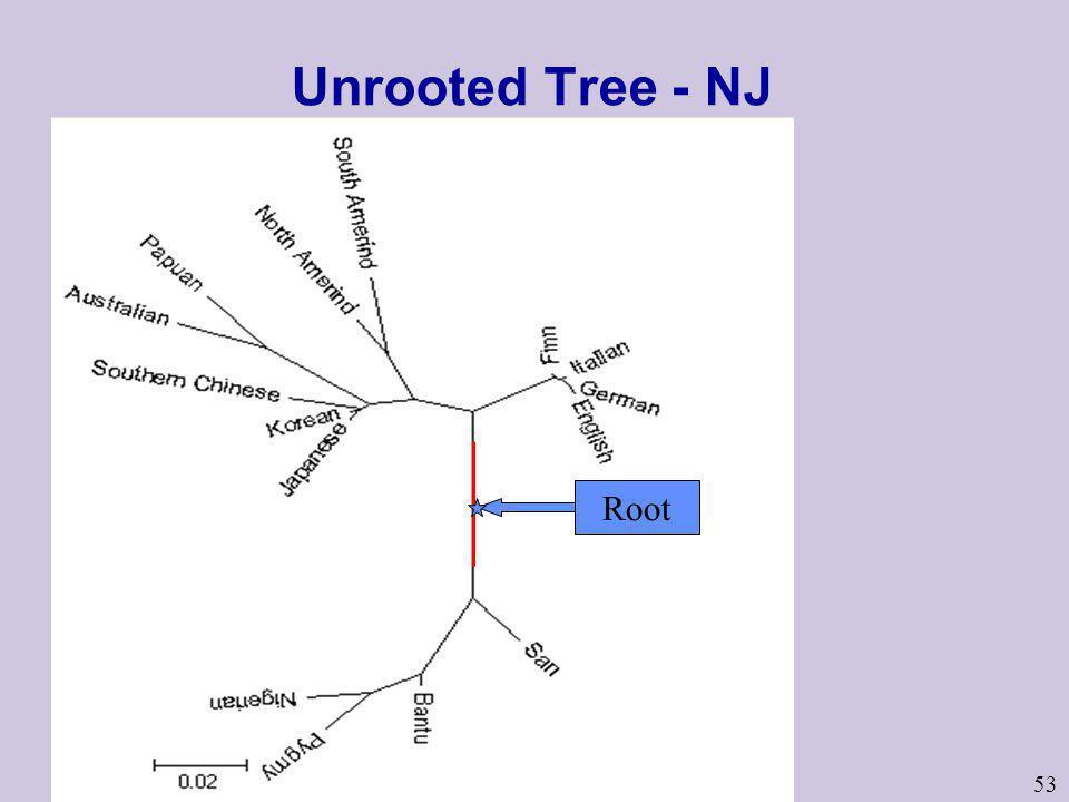 Unrooted Tree - NJ Root