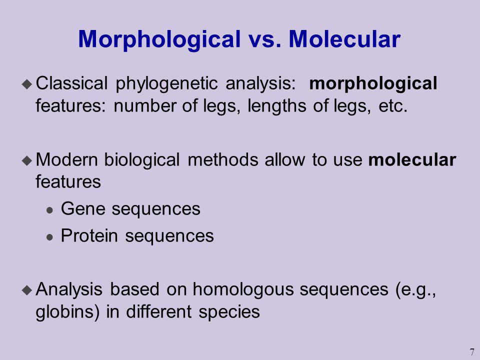 Morphological vs. Molecular