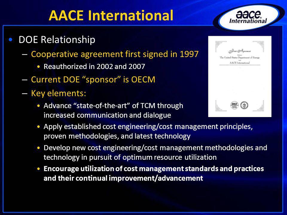 AACE International DOE Relationship