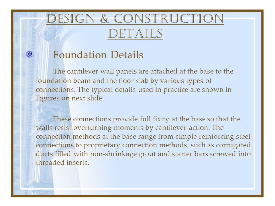 DESIGN & construction DETAILS