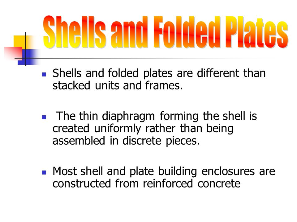 Shells and Folded Plates