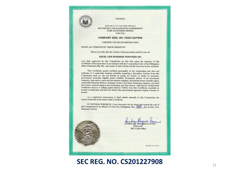 SEC REG. NO. CS201227908