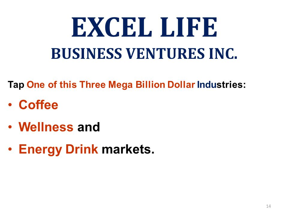 EXCEL LIFE BUSINESS VENTURES INC.