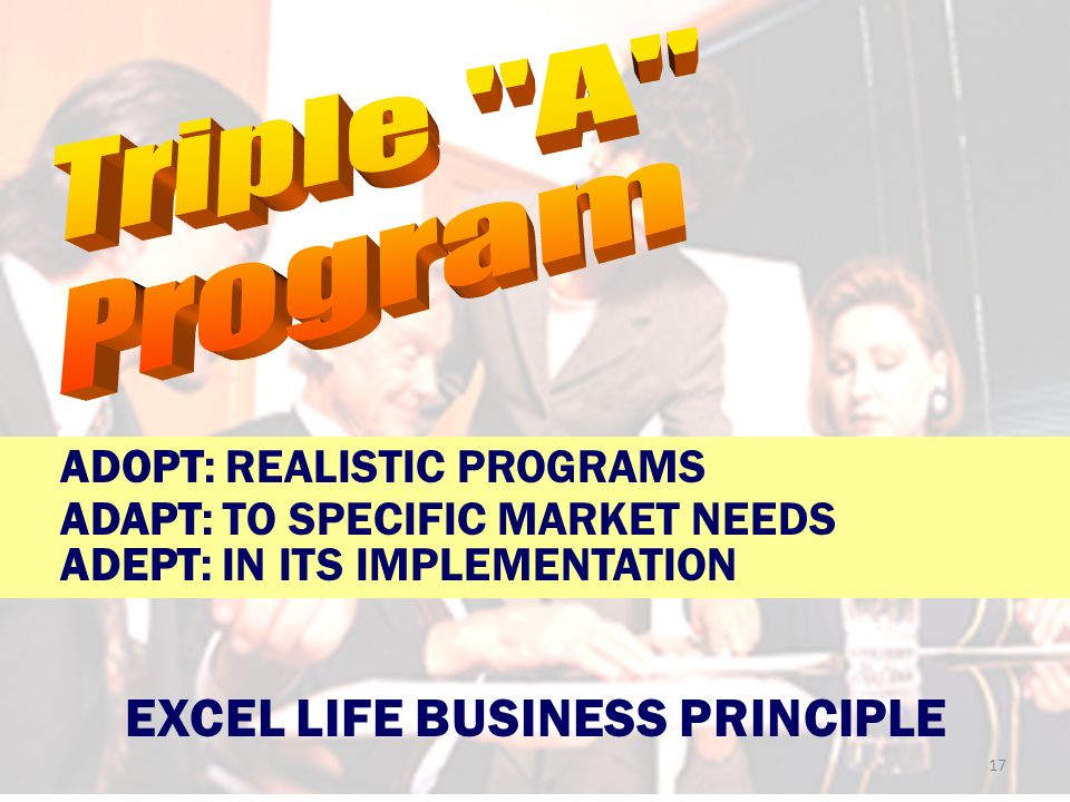 EXCEL LIFE BUSINESS PRINCIPLE
