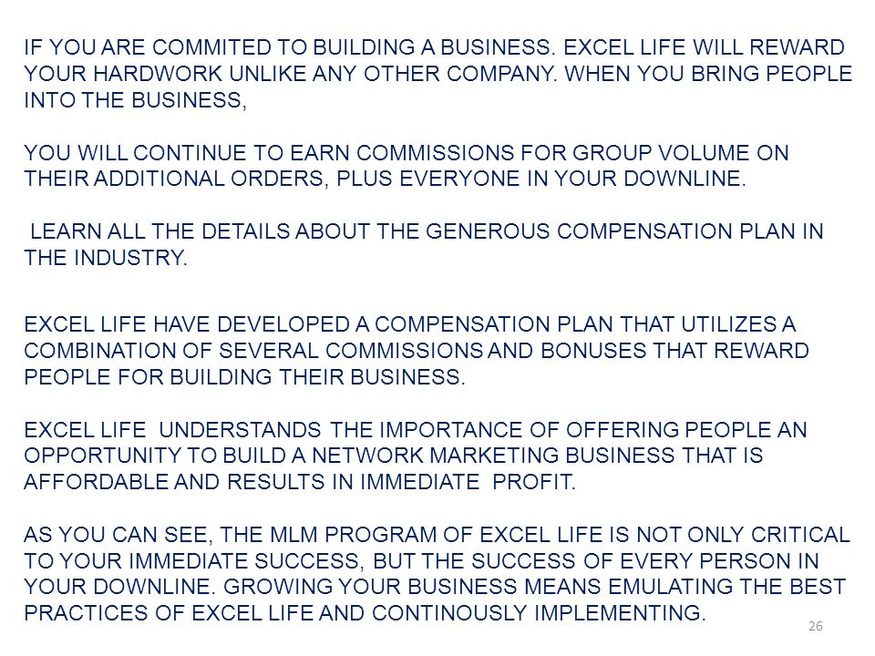 IF YOU ARE COMMITED TO BUILDING A BUSINESS