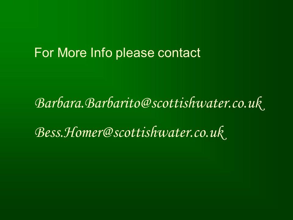 Barbara.Barbarito@scottishwater.co.uk Bess.Homer@scottishwater.co.uk