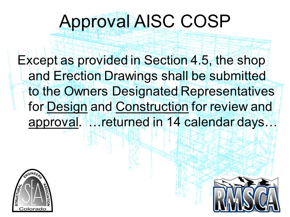 Approval AISC COSP
