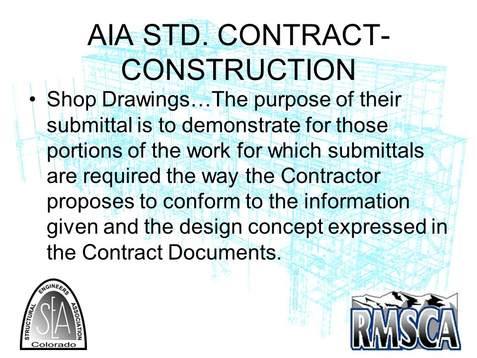 AIA STD. CONTRACT- CONSTRUCTION