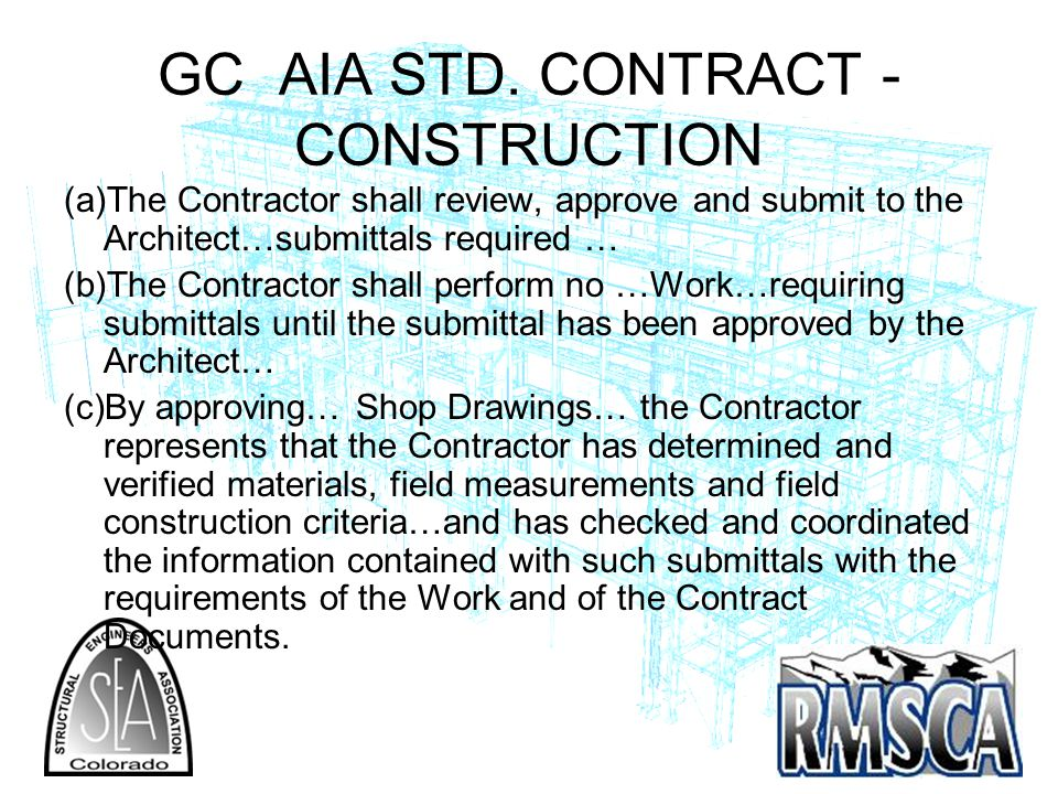 GC AIA STD. CONTRACT -CONSTRUCTION