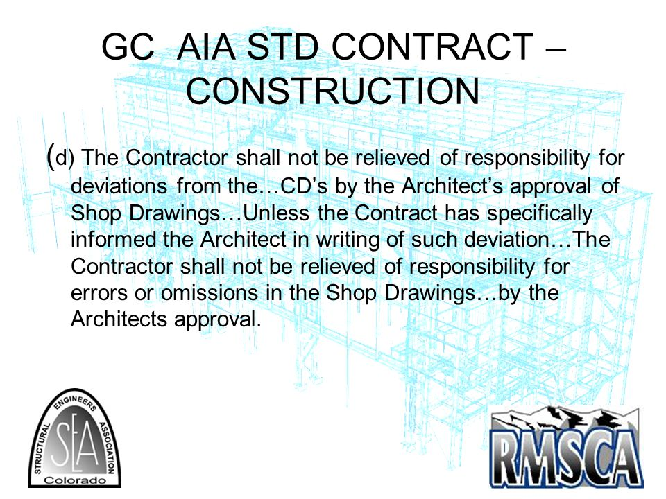 GC AIA STD CONTRACT –CONSTRUCTION