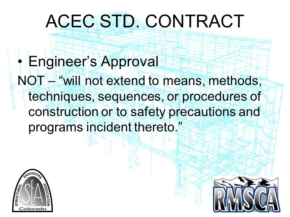 ACEC STD. CONTRACT Engineer's Approval