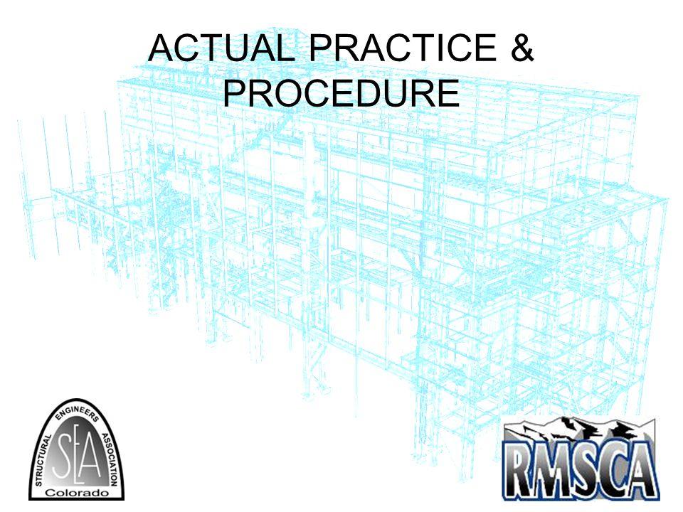ACTUAL PRACTICE & PROCEDURE