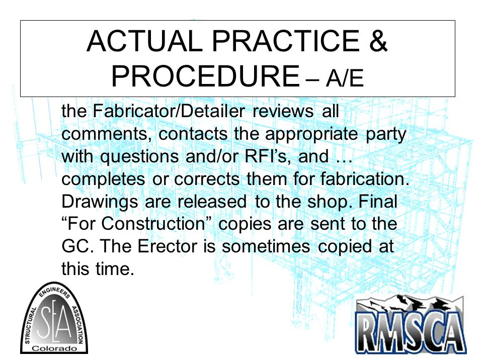 ACTUAL PRACTICE & PROCEDURE – A/E